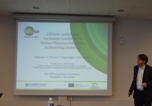 Presentation of the topic at the 5th LIPSS workshop, St-Etienne, France